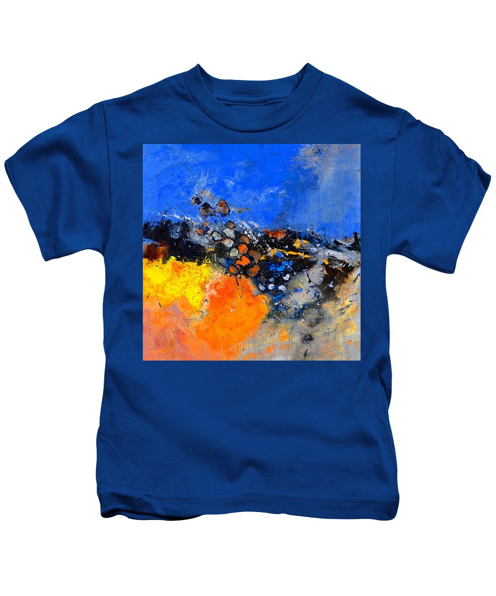Abstract Kids T-Shirt featuring the painting Abstract 88411133 by Pol Ledent