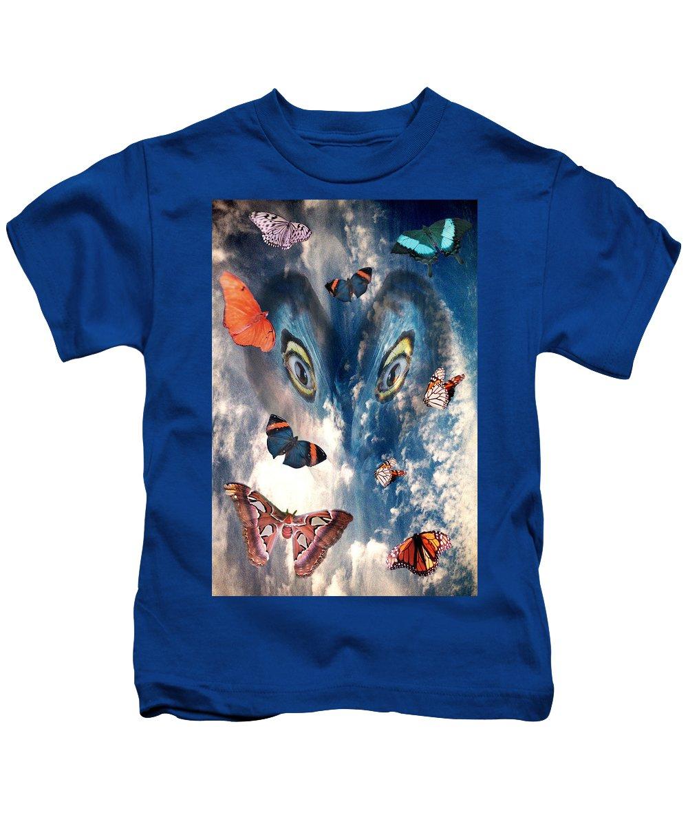 Air Kids T-Shirt featuring the digital art Air by Lisa Yount