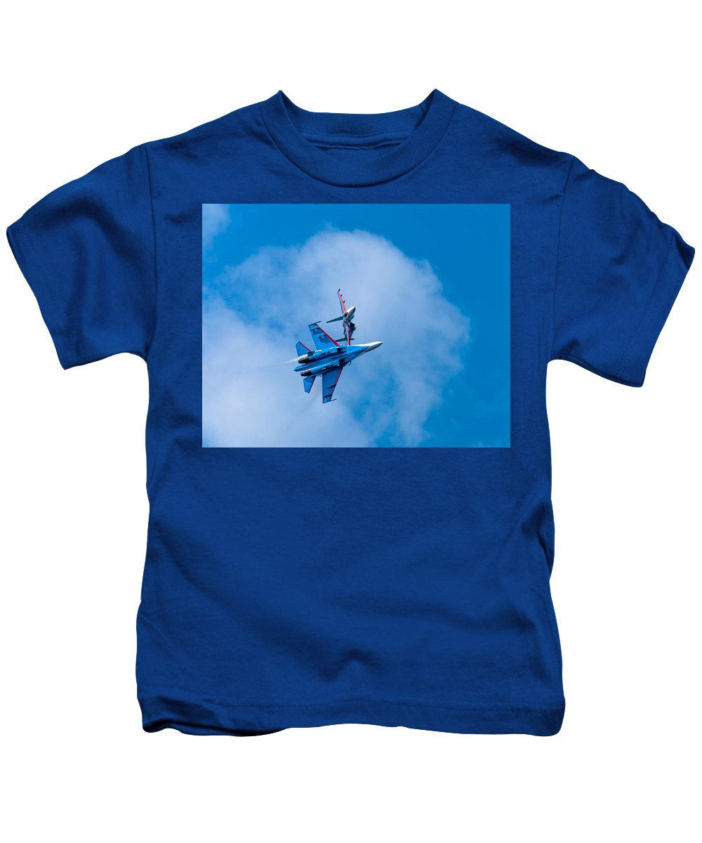 Show Kids T-Shirt featuring the photograph Airshow St Petersburg Russia Part 2 by Alex Hiemstra