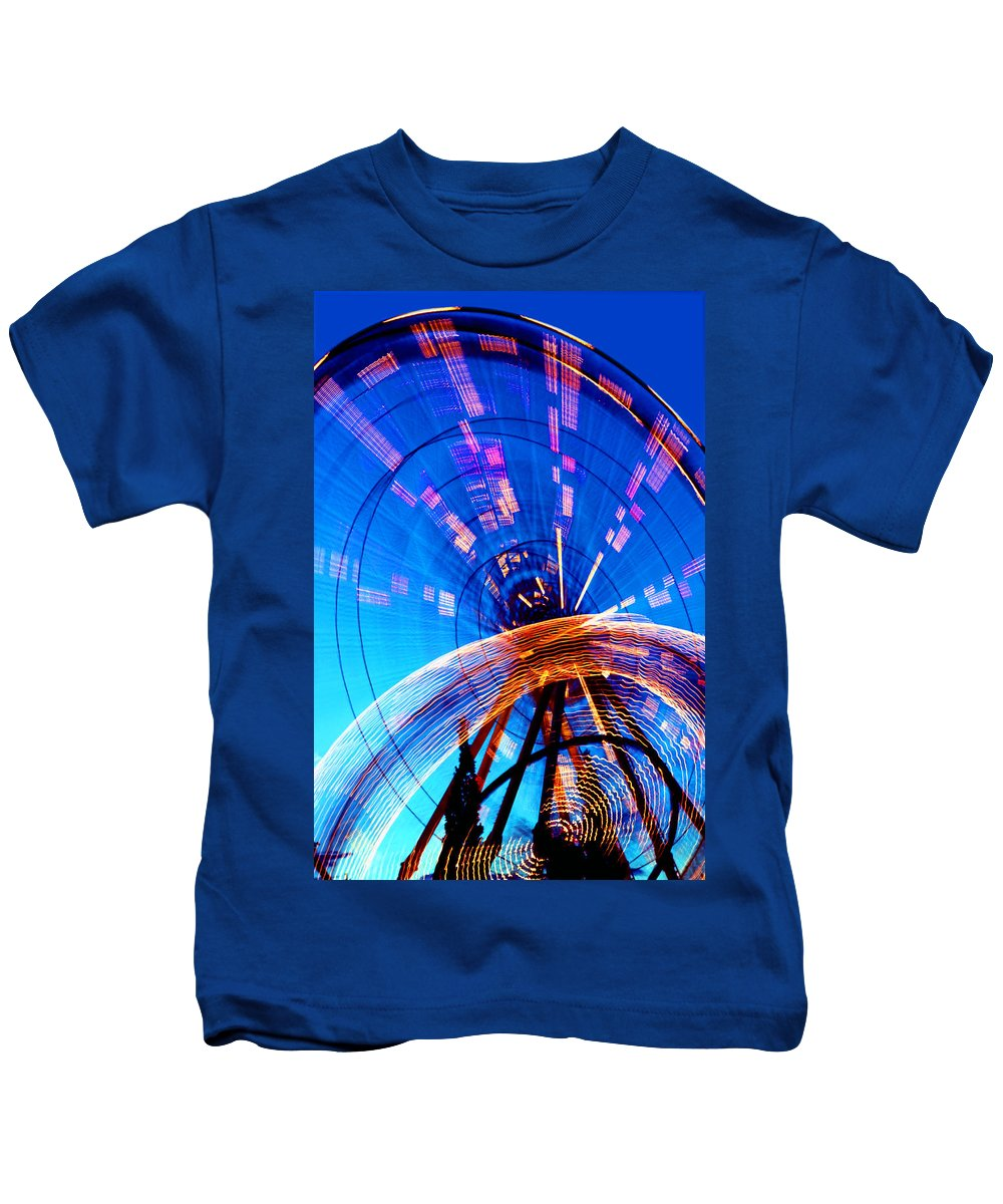 Amusement Park Kids T-Shirt featuring the photograph Amusement Park Rides 1 by Steve Ohlsen