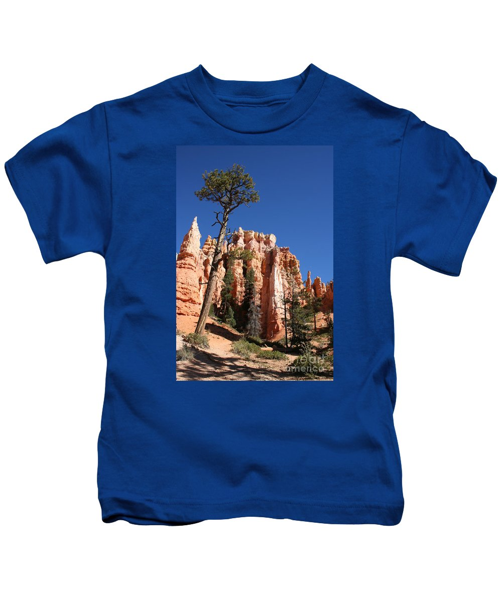 Canyon Kids T-Shirt featuring the photograph At The Bottom Of The Bryce Np by Christiane Schulze Art And Photography