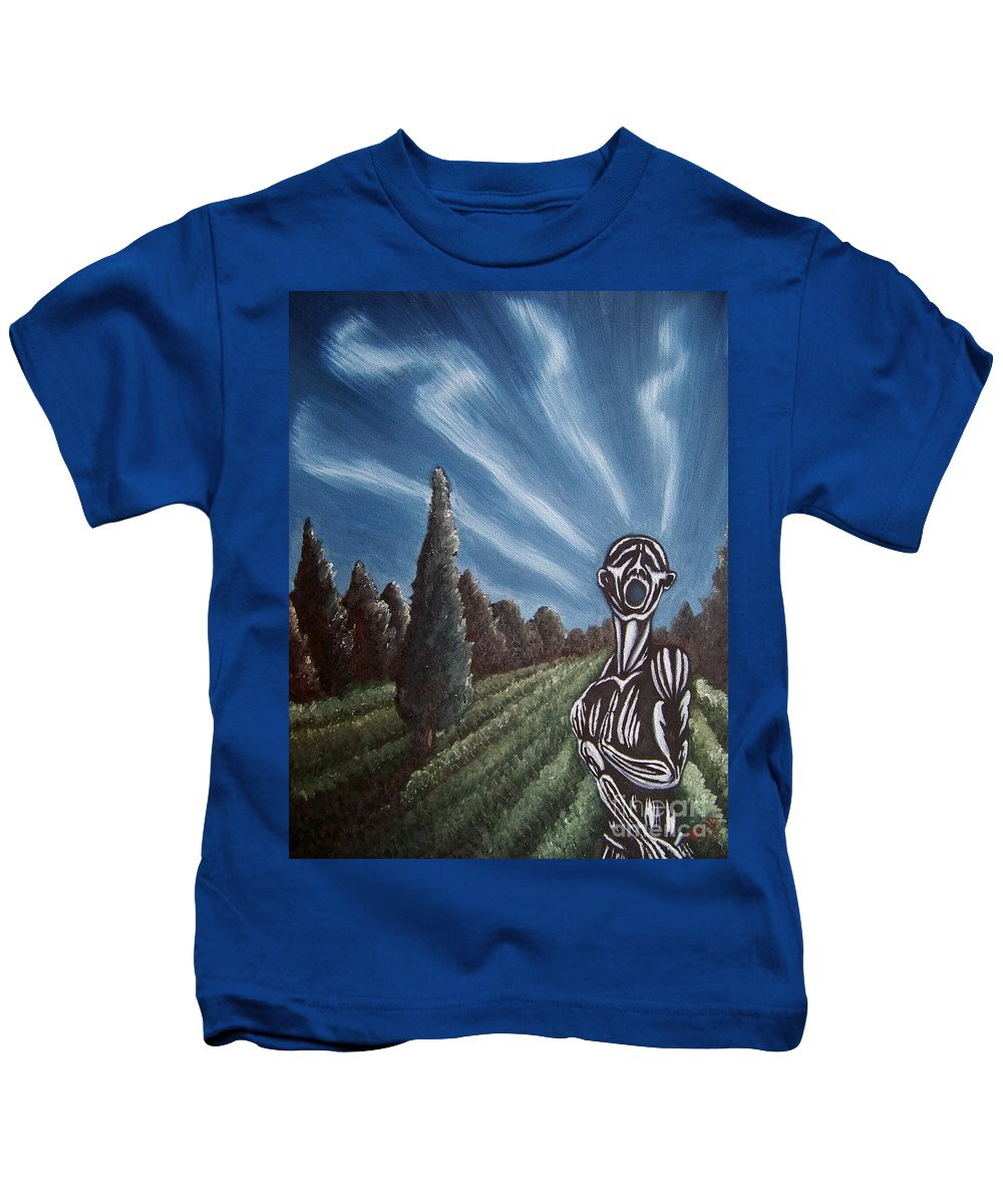 Tmad Kids T-Shirt featuring the painting Aurora by Michael TMAD Finney