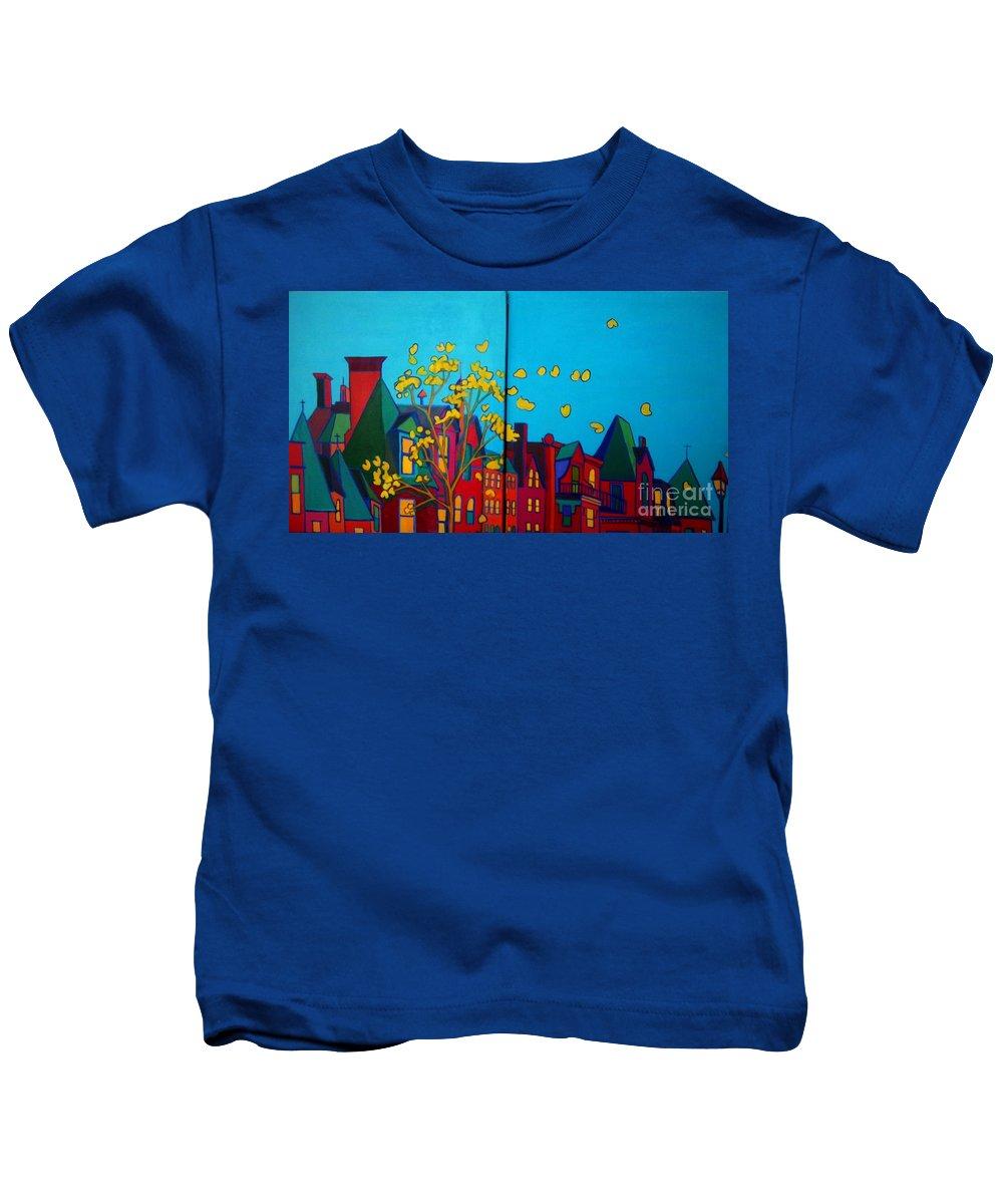 Boston Kids T-Shirt featuring the painting Back Bay Boston by Debra Bretton Robinson
