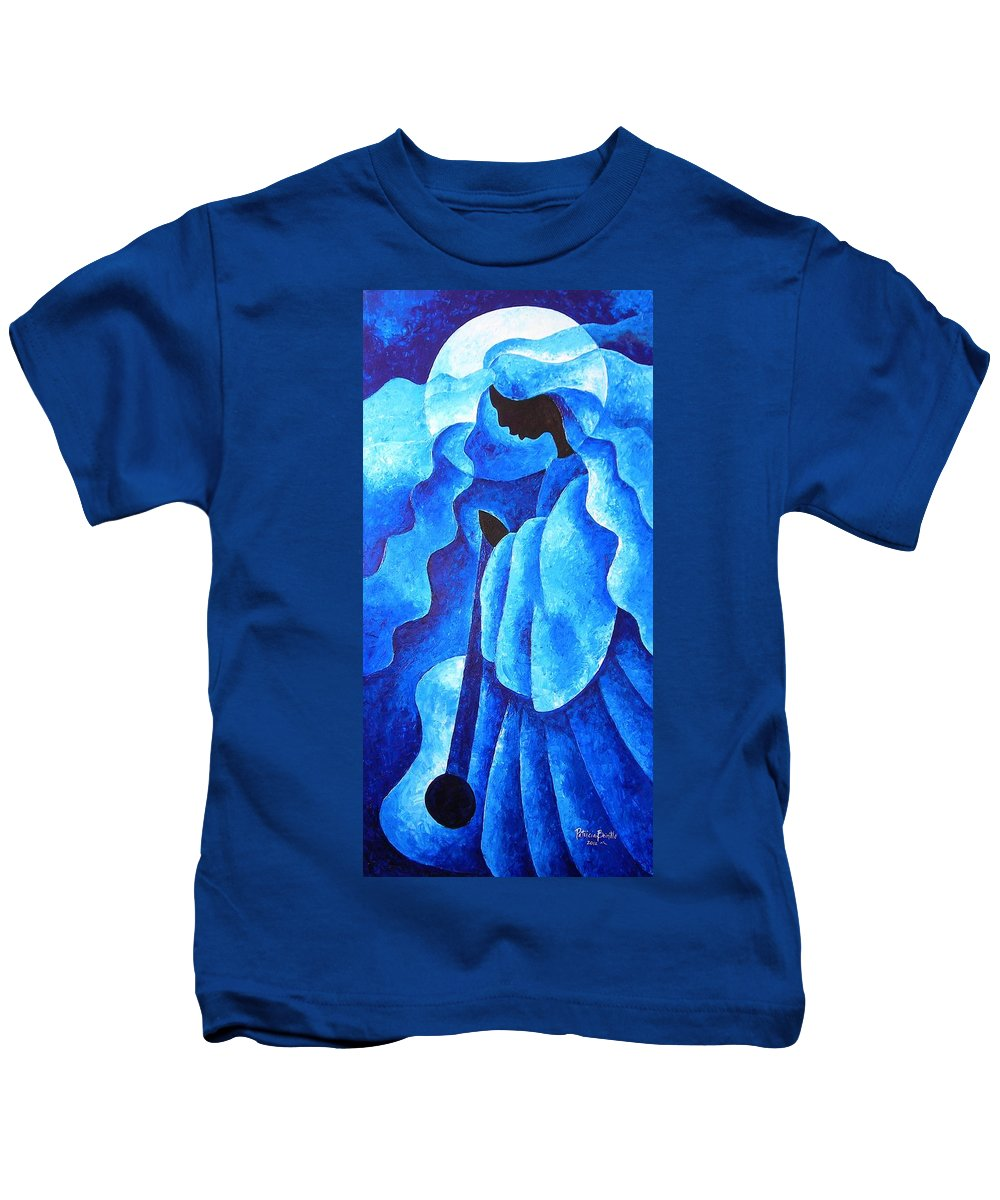 Haiti Kids T-Shirt featuring the painting Before The Song by Patricia Brintle