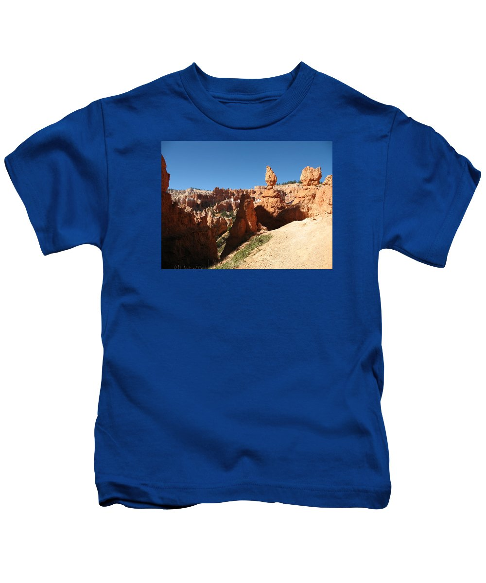 Canyon Kids T-Shirt featuring the photograph Bizarre Shapes - Bryce Canyon by Christiane Schulze Art And Photography