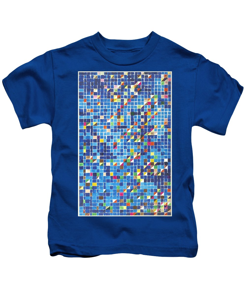 Landscape Kids T-Shirt featuring the painting Blue by Allan P Friedlander