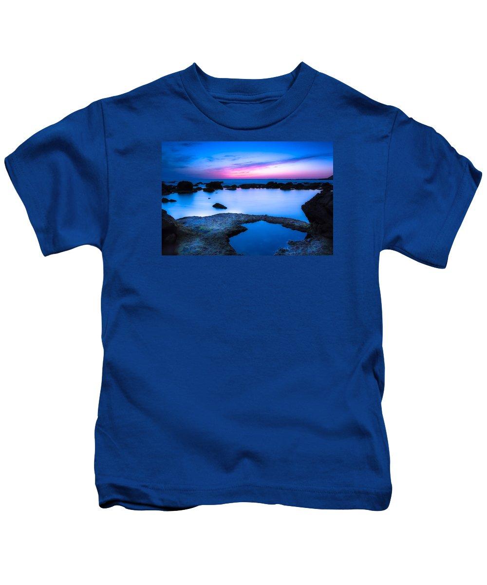 Blue Hour Kids T-Shirt featuring the photograph Blue Hour by Edgar Laureano