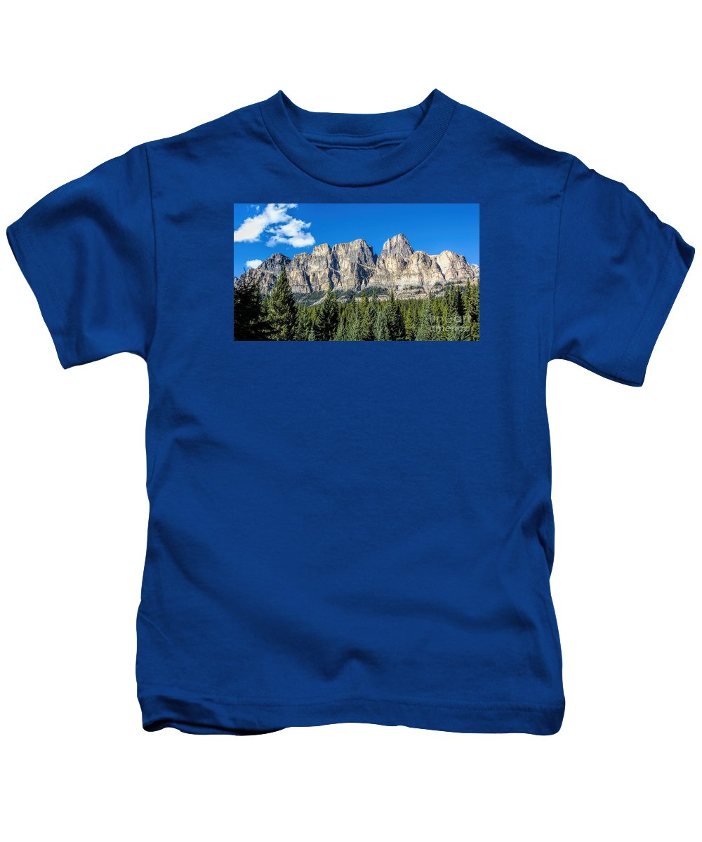 Bow Valley Kids T-Shirt featuring the photograph Bow Valley by Mickey At Rawshutterbug