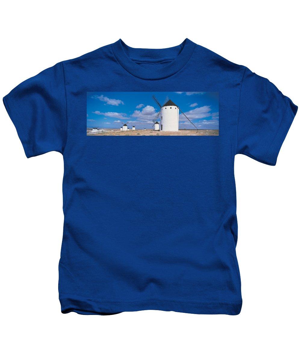 Photography Kids T-Shirt featuring the photograph Campo De Criptana La Mancha Spain by Panoramic Images