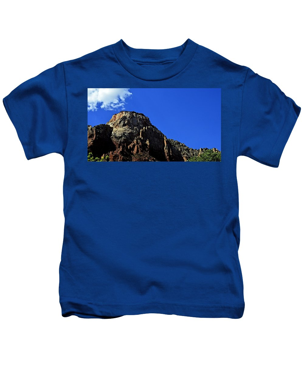 Zion National Park Kids T-Shirt featuring the photograph Canyon Junction by See My Photos