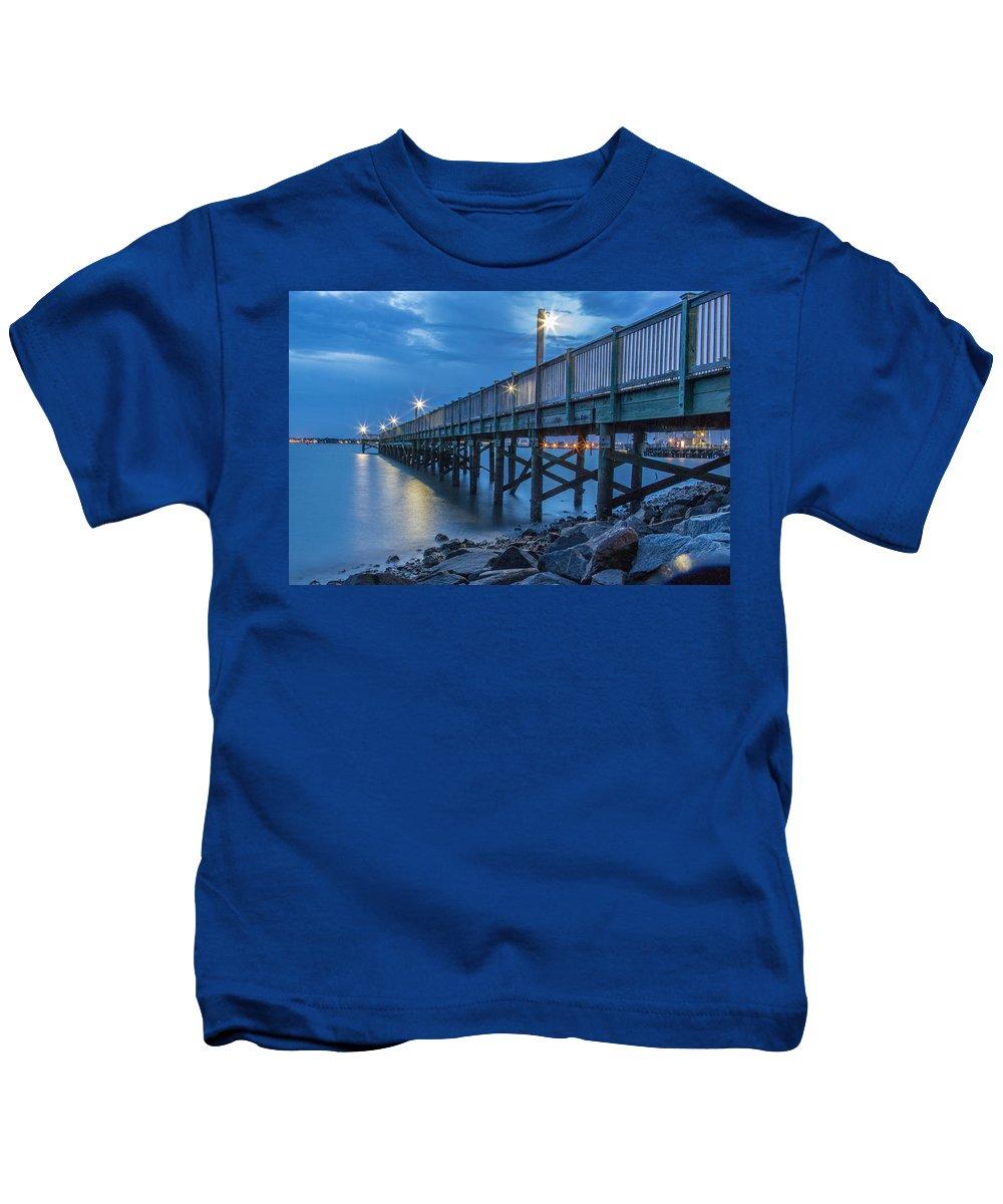 Charleston Kids T-Shirt featuring the photograph Charleston Harbor 3 by Ken Kobe