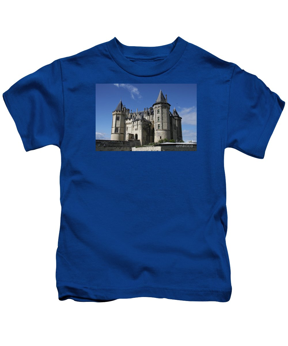 Castle Kids T-Shirt featuring the photograph Chateau De Saumur by Christiane Schulze Art And Photography
