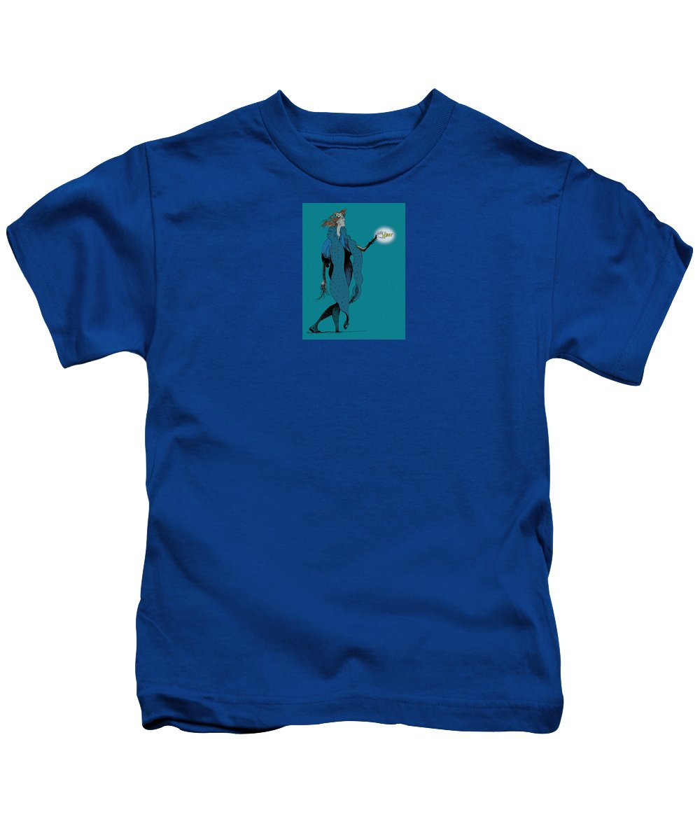 Woman Kids T-Shirt featuring the drawing Cheat by Ch' Brown
