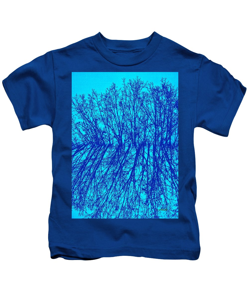 Earthy Kids T-Shirt featuring the photograph Cold Blue by Chris Berry