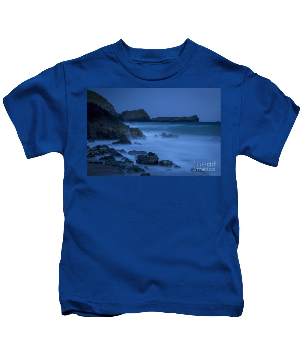 Channel Kids T-Shirt featuring the photograph Cornwall Coast by Brian Jannsen