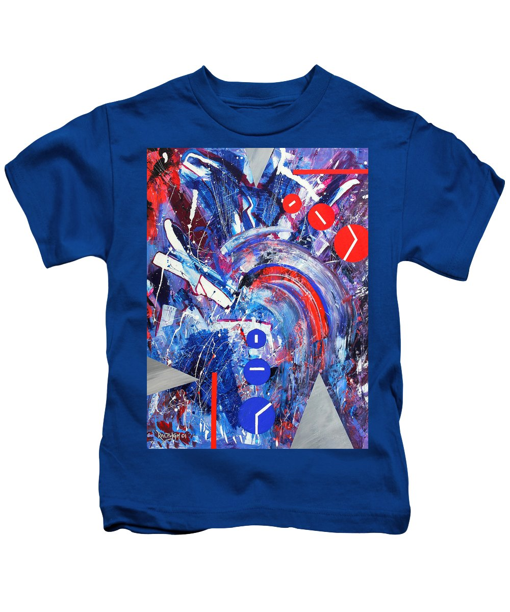 Abstract Kids T-Shirt featuring the painting Dream Run 2001 by RalphGM