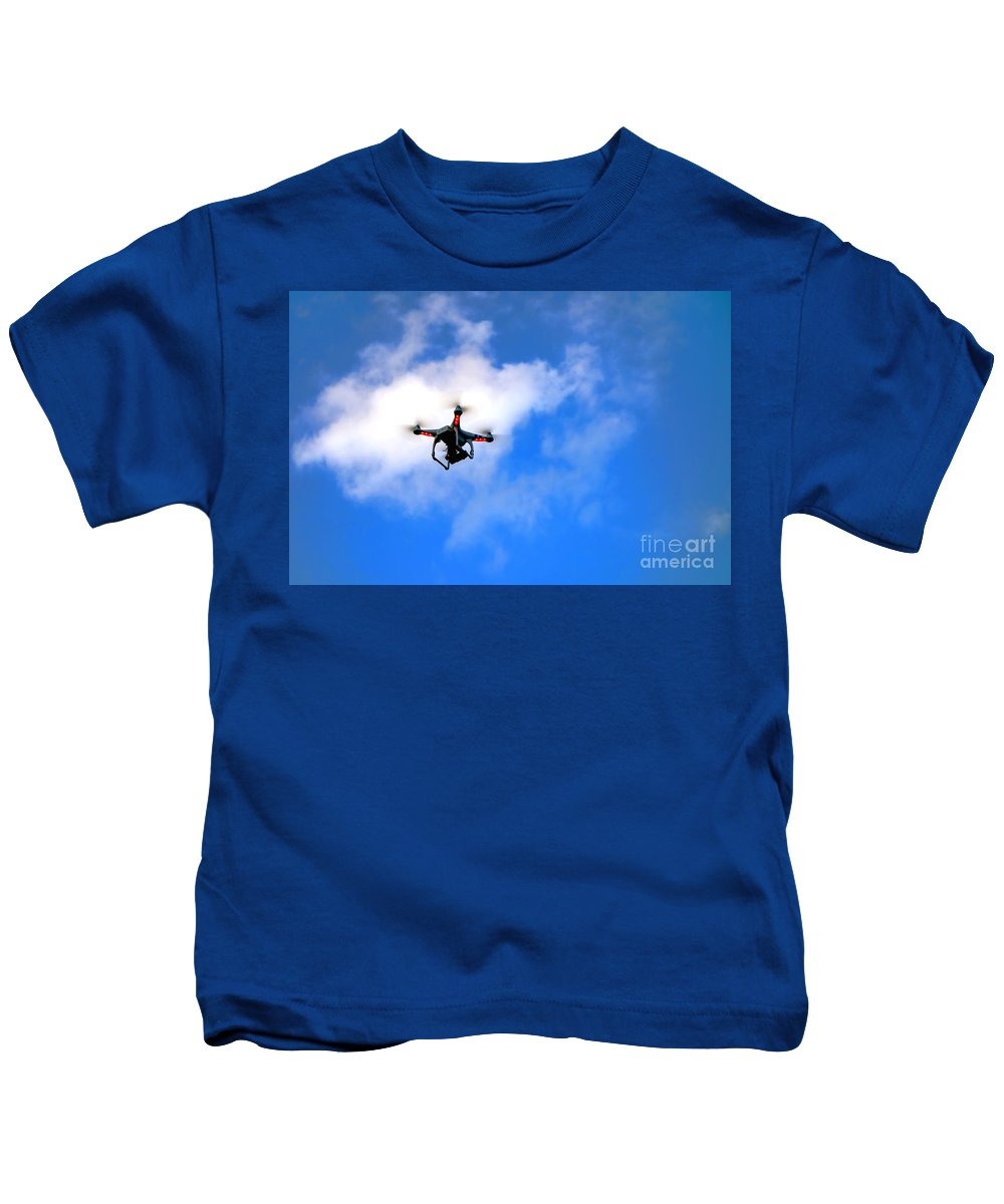 Drone Kids T-Shirt featuring the photograph Droning by Olivier Le Queinec