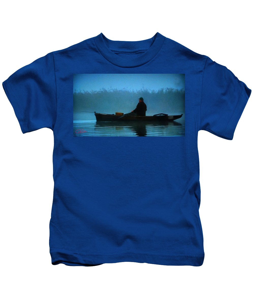 Colette Kids T-Shirt featuring the photograph Early Morning Lake Joy by Colette V Hera Guggenheim