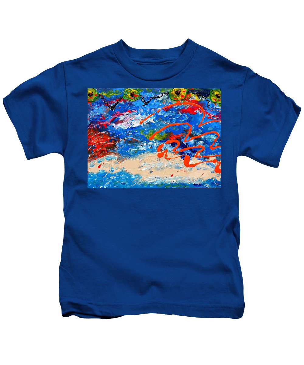 Cuban Art Kids T-Shirt featuring the painting Easter In Cuba by Robert Margetts