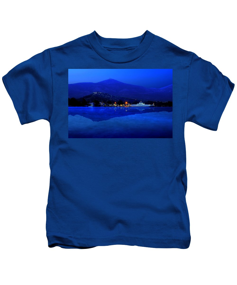 Greece Kids T-Shirt featuring the photograph Eretria By Sea by Ivan Zeitlin