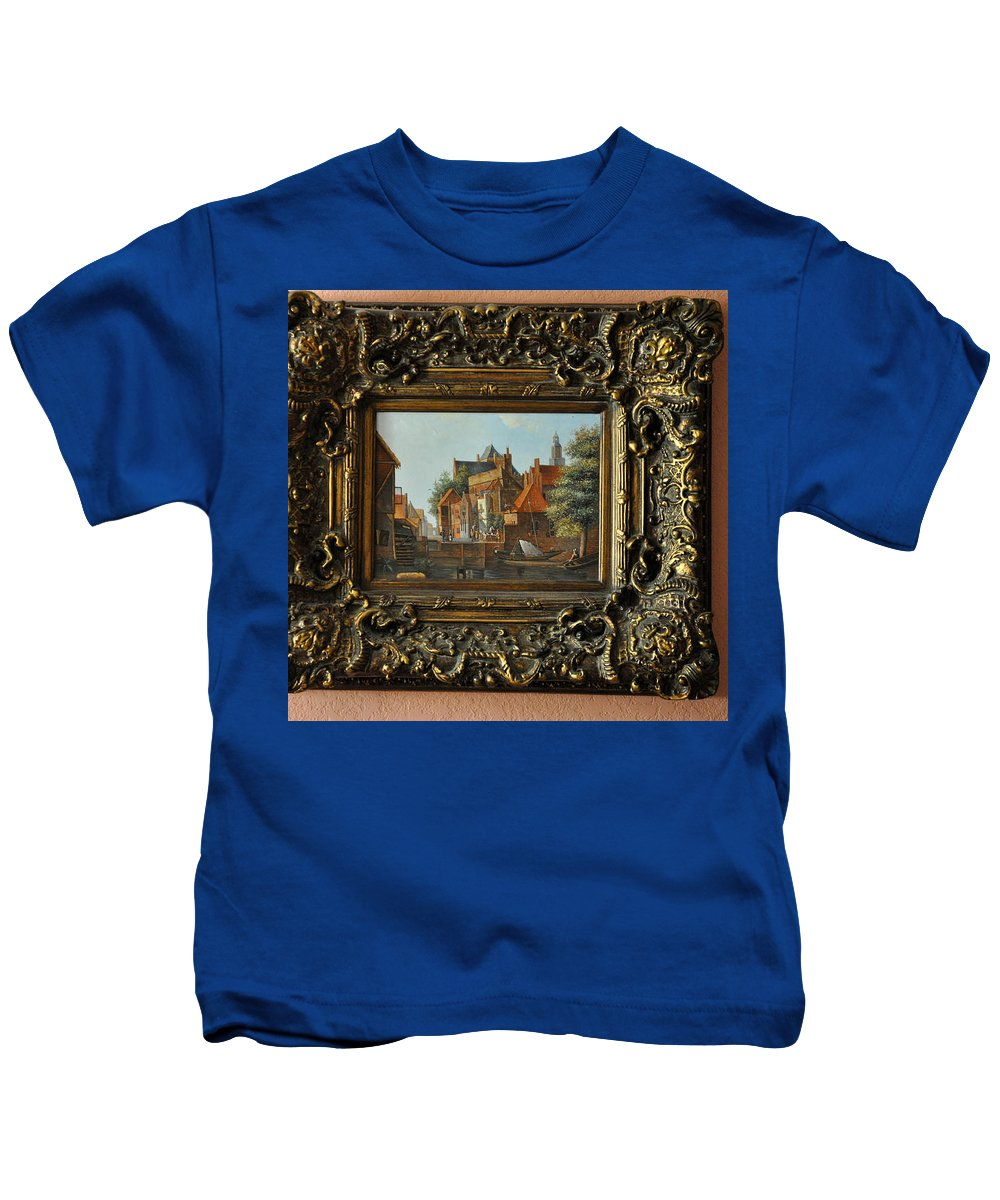 Fish Kids T-Shirt featuring the photograph Euorpean Fishing Village by Jay Milo