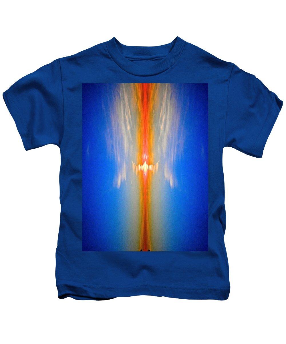 Abstract Kids T-Shirt featuring the photograph Fire Bird Sky by Joe Wyman
