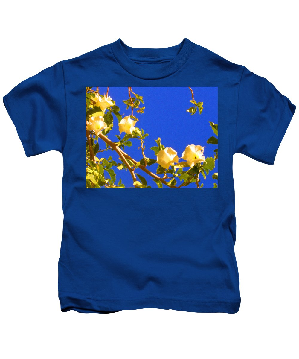 Landscapes Kids T-Shirt featuring the painting Flowering Tree 1 by Amy Vangsgard