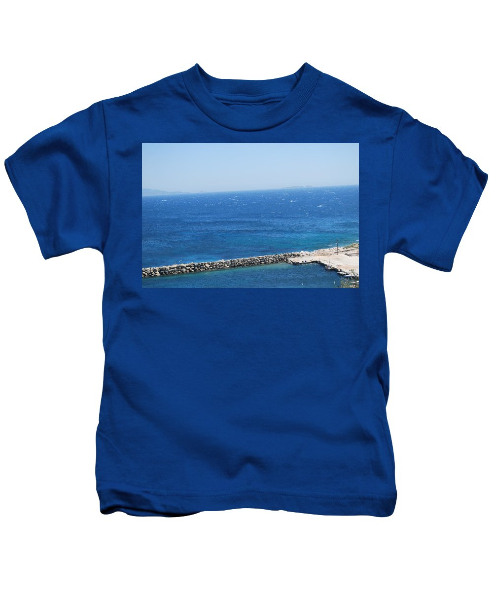 Mistral Wind Kids T-Shirt featuring the photograph Fresh Mistral Wind by George Katechis