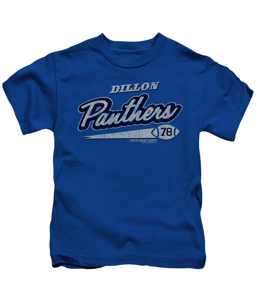 Kids T-Shirt featuring the digital art Friday Night Lights - Panthers 78 by Brand A