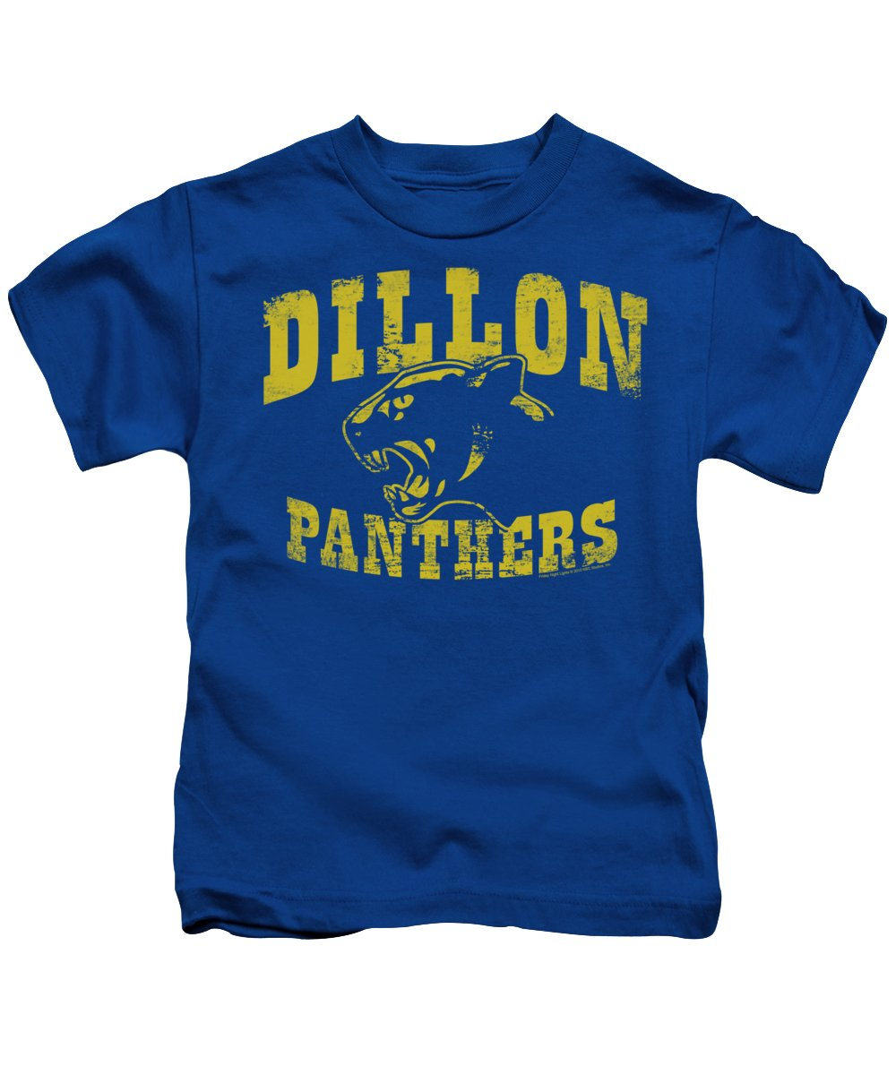 Friday Night Lights Kids T-Shirt featuring the digital art Friday Night Lts - Panthers by Brand A