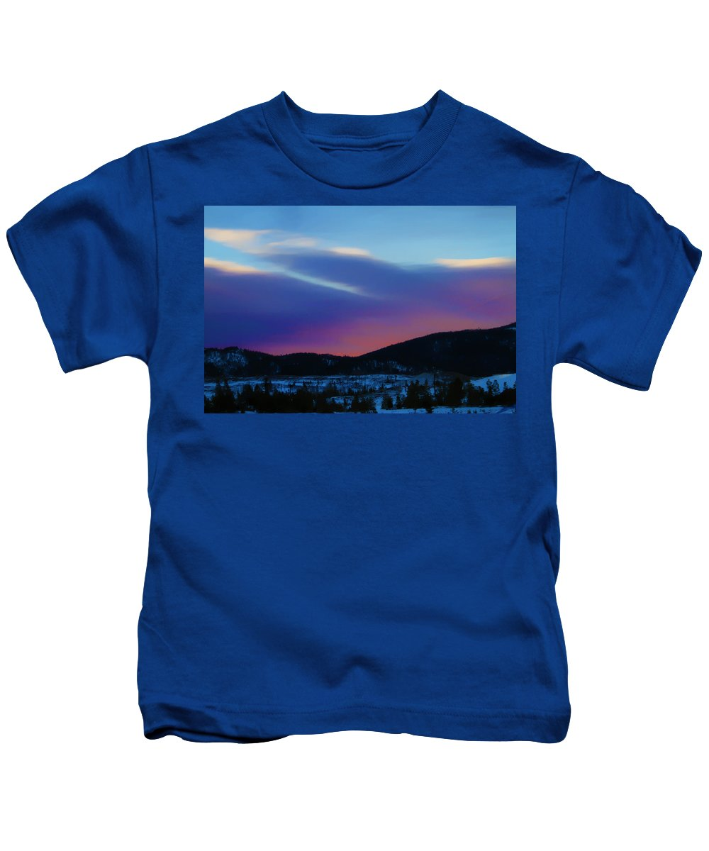 Twilight Kids T-Shirt featuring the photograph Frisco Twilight by Terry Fiala