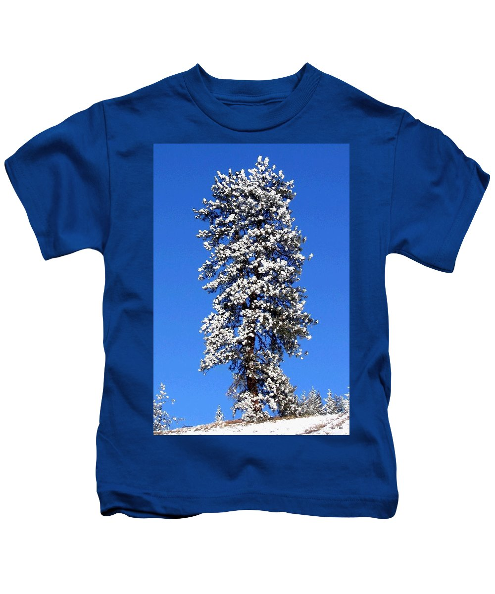 Frost Kids T-Shirt featuring the photograph Frosty Pine by Will Borden