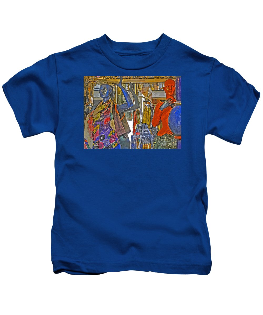 Fashion Kids T-Shirt featuring the photograph Funky Boutique by Ann Horn