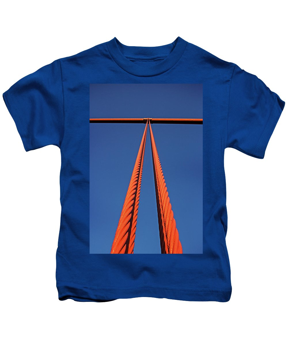 Golden Gate Kids T-Shirt featuring the photograph Gateway II by Angie Schutt