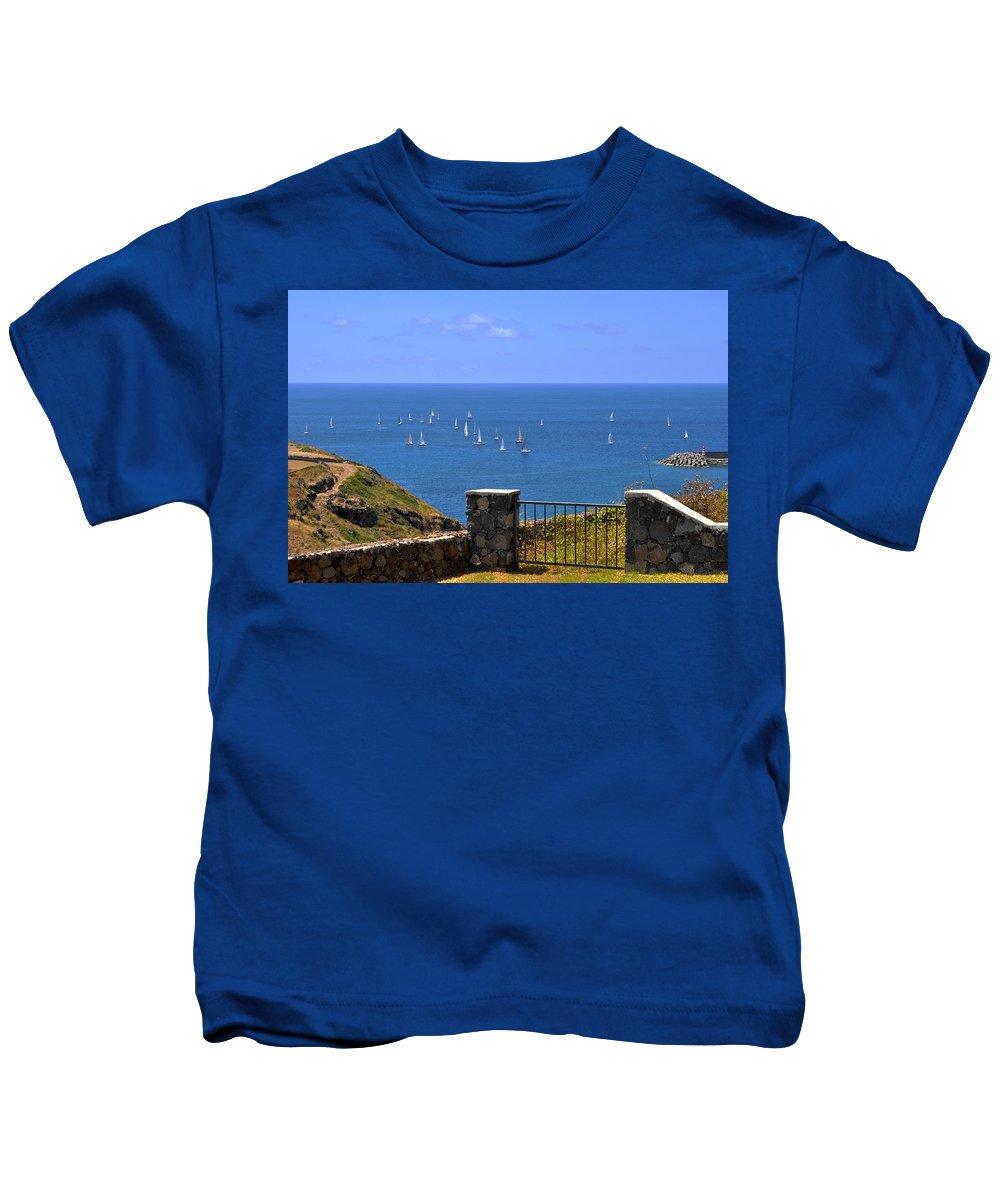 Regatta Kids T-Shirt featuring the photograph Gateway To The Atlantic by M Bernardo
