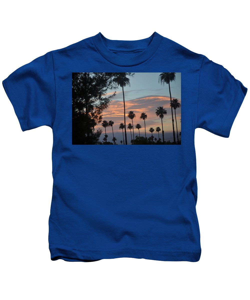 Palm Trees Kids T-Shirt featuring the photograph God's Palette by Jay Milo