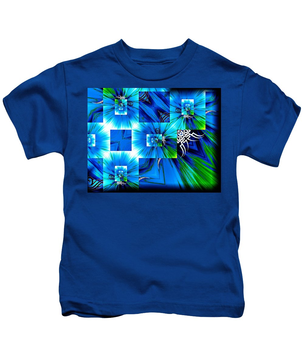 Gravity Kids T-Shirt featuring the digital art Gravity by Michael Damiani