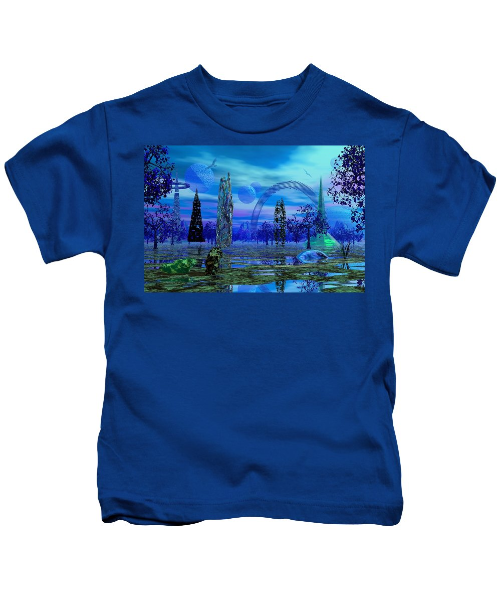 Landscape Kids T-Shirt featuring the photograph Grove Of Grurb by Mark Blauhoefer