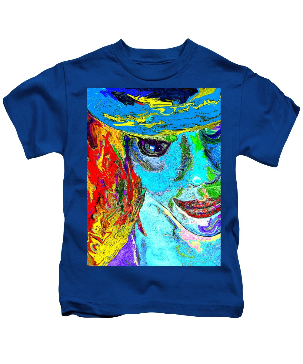 Digital Art Kids T-Shirt featuring the digital art Gypsy by Donna Blackhall