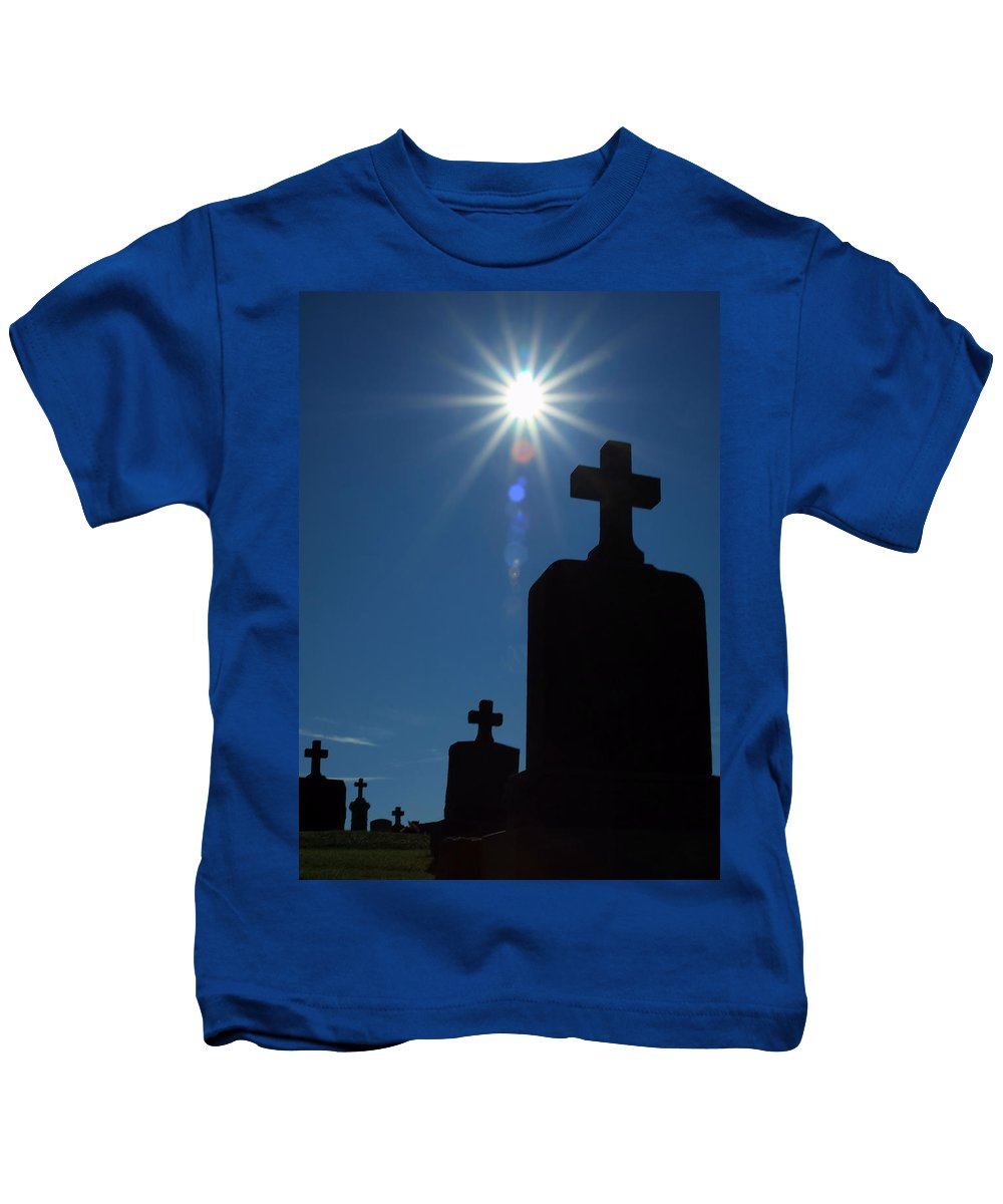 Cemetery Kids T-Shirt featuring the photograph Have Faith... by Karol Livote