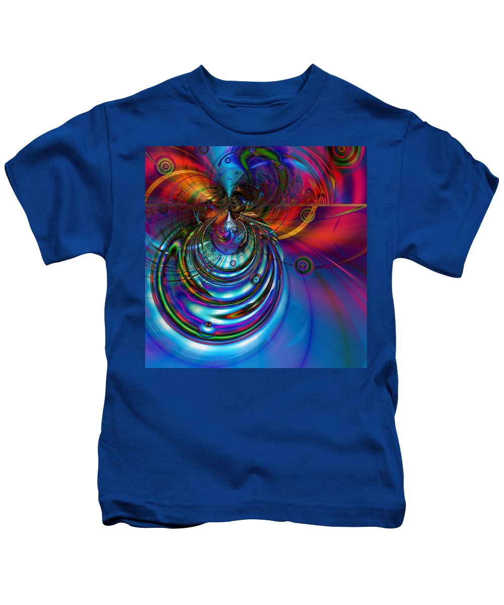 Abstract Kids T-Shirt featuring the digital art High Tide by Kiki Art
