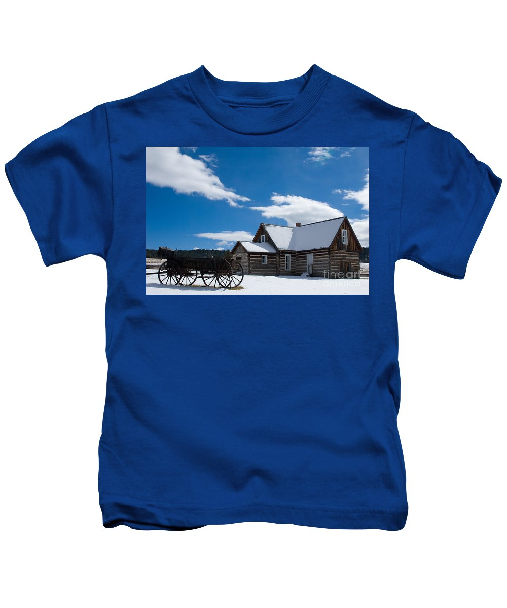 Hornbek Homestead Kids T-Shirt featuring the photograph Hornbek Homestead - Colorado by Lee Roth