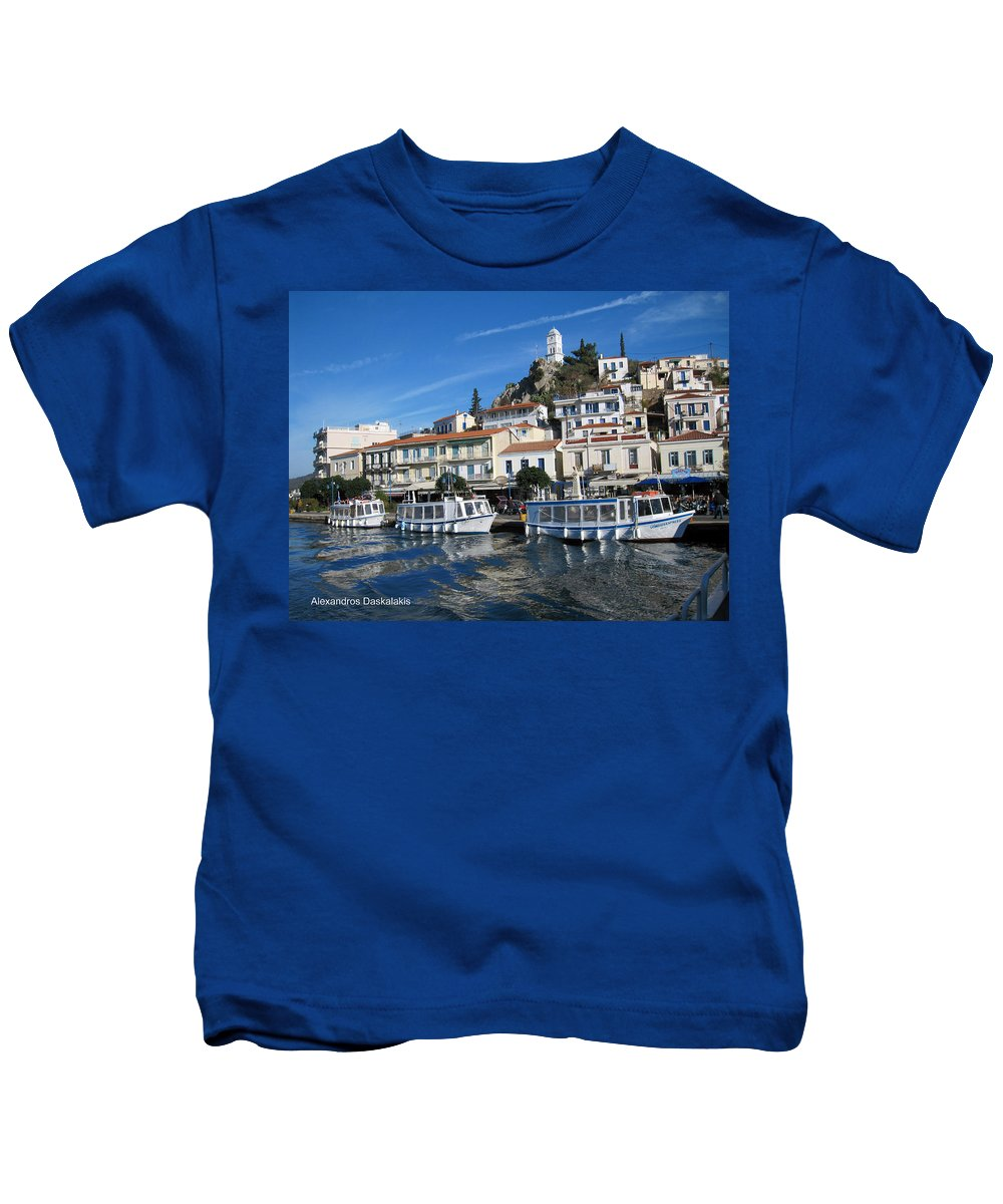Alexandros Daskalakis Kids T-Shirt featuring the photograph Greek Island by Alexandros Daskalakis