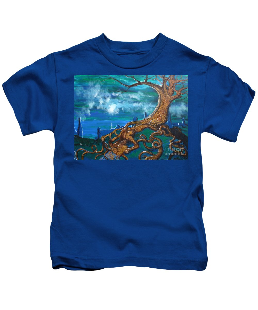 Fantasy Kids T-Shirt featuring the painting I'll Take You To The Light by Stefan Duncan
