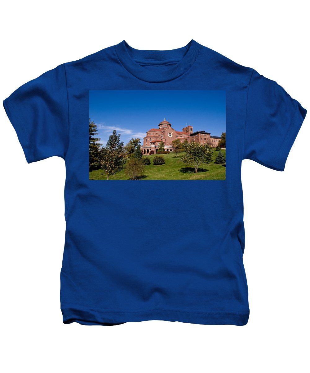Monasteries Kids T-Shirt featuring the photograph Immaculate Conception Monastery by Sandy Keeton