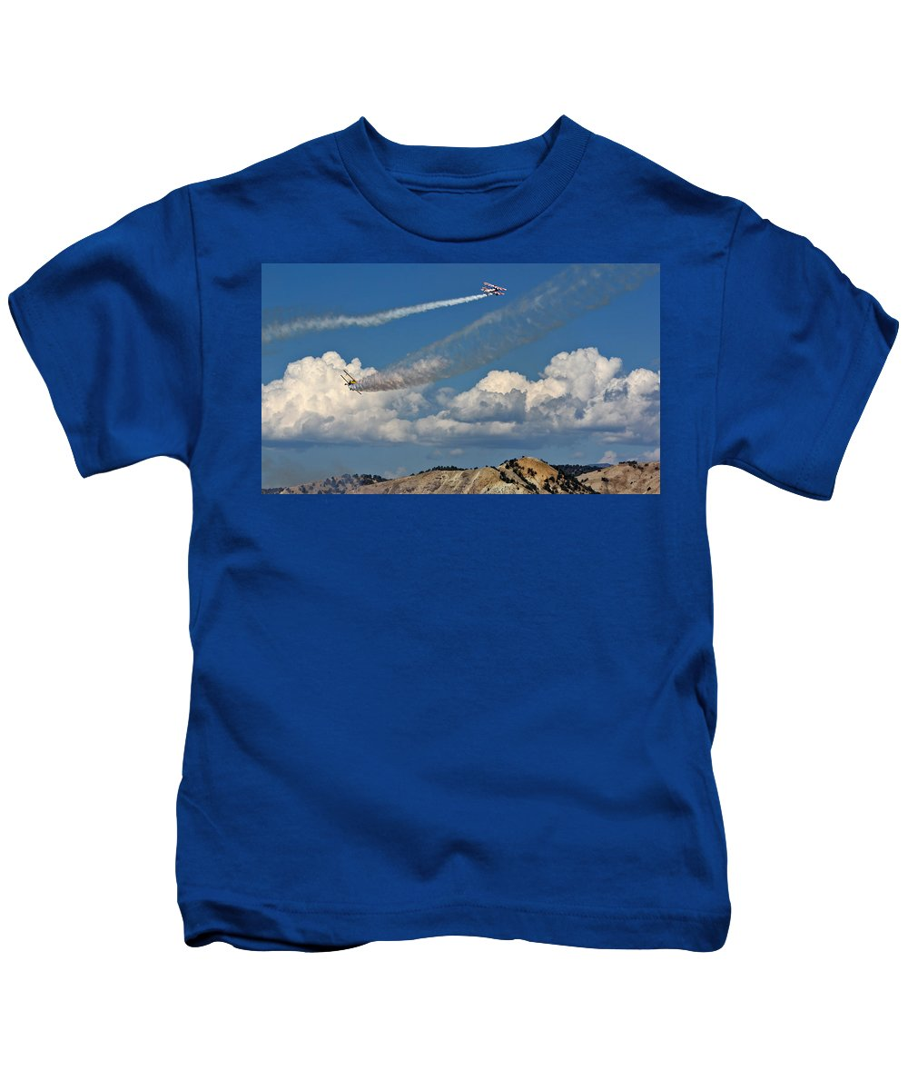 Airplane Kids T-Shirt featuring the photograph Into The Distance by Chance Chenoweth