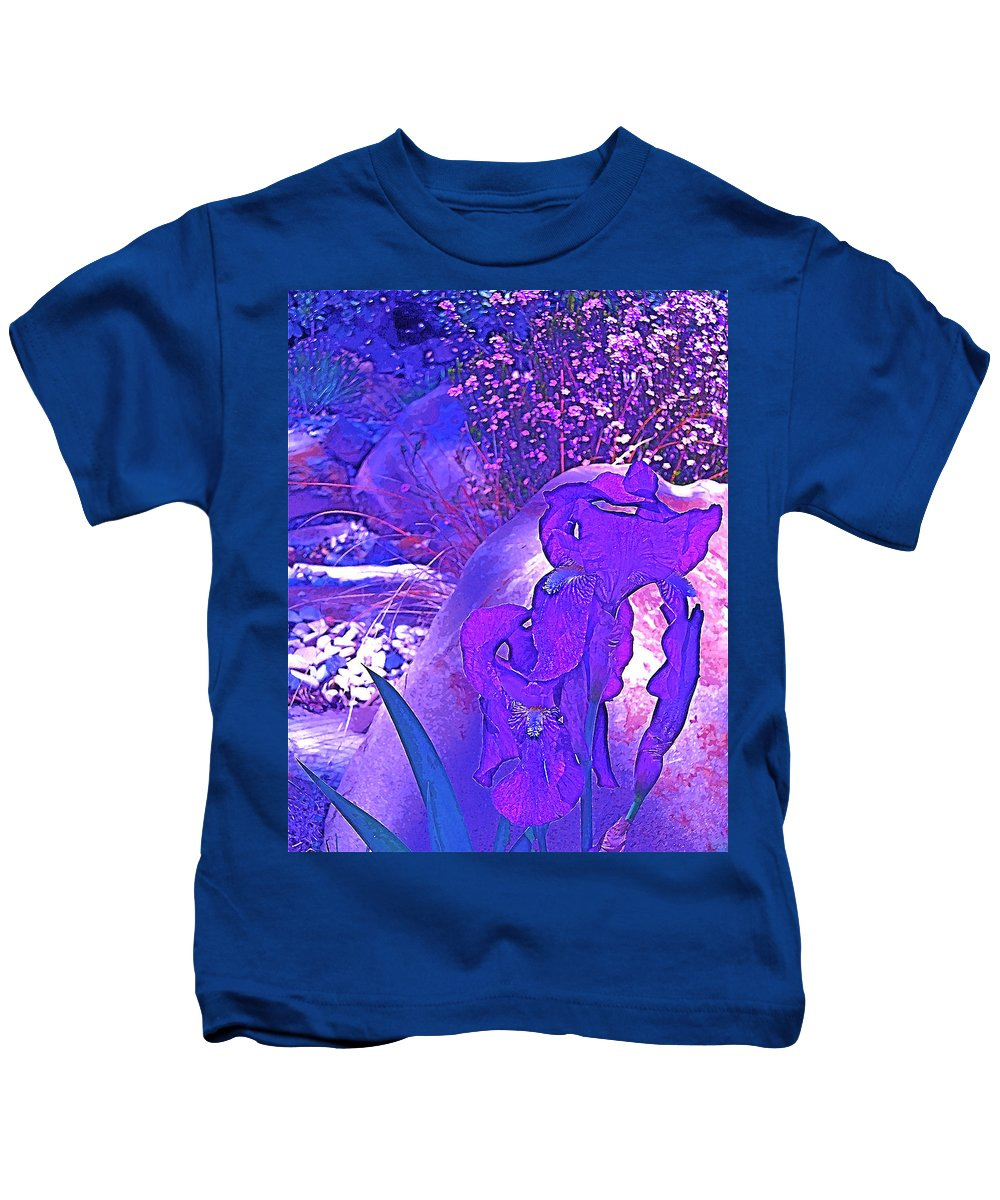 Flowers Kids T-Shirt featuring the photograph Iris 2 by Pamela Cooper