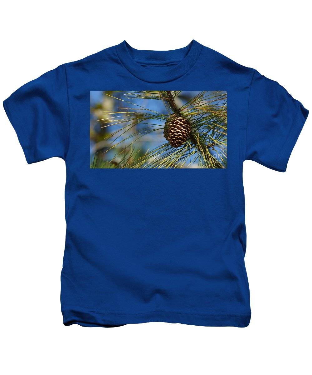Pine Cones Kids T-Shirt featuring the photograph It's Beginning To Look A Lot Like Christmas by Rafael Salazar