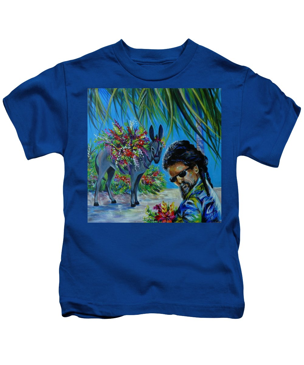 Travel Kids T-Shirt featuring the painting Jamaica.part One by Anna Duyunova