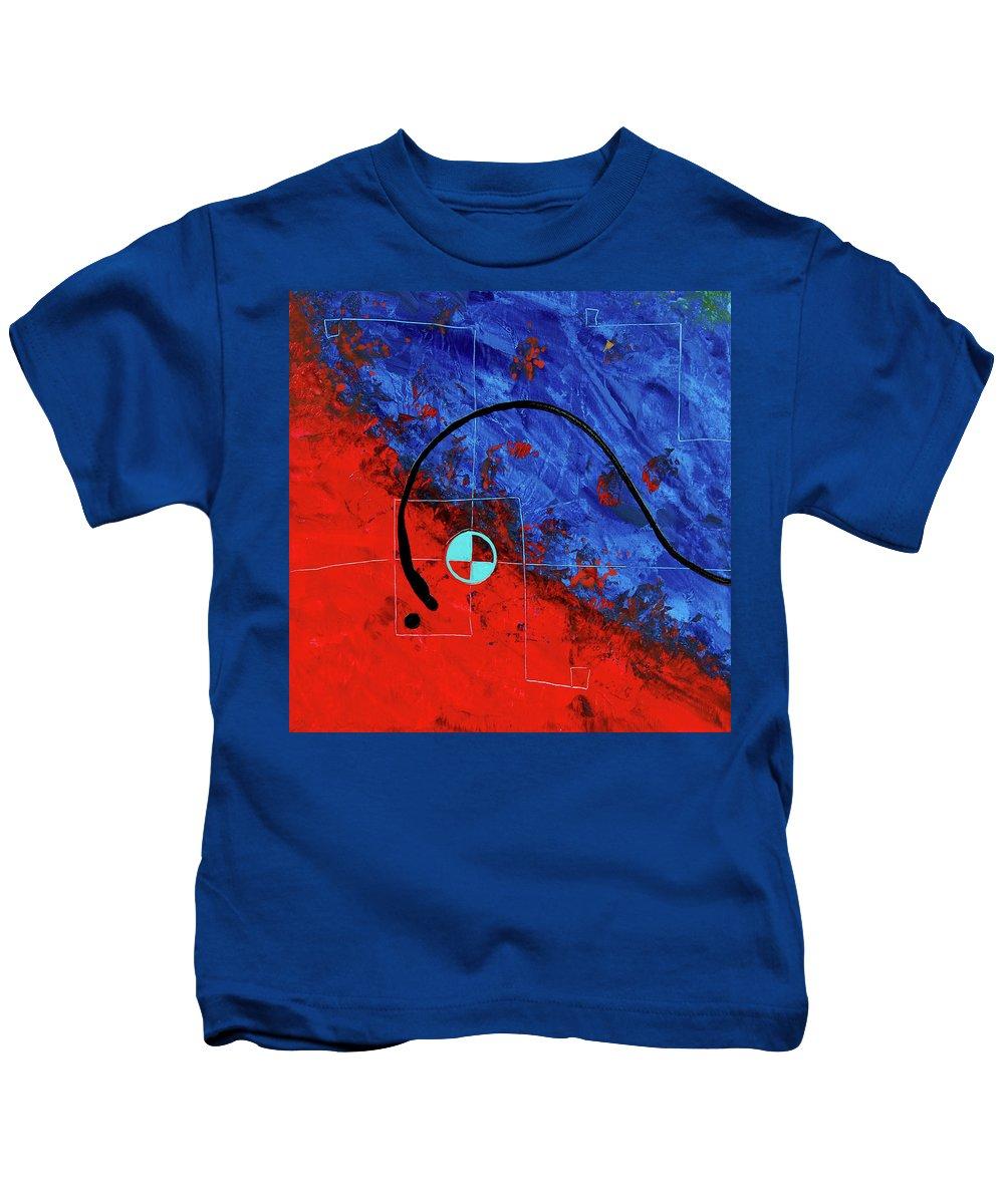 Sharon Cummings Kids T-Shirt featuring the painting Jealous Bones 1 by Sharon Cummings